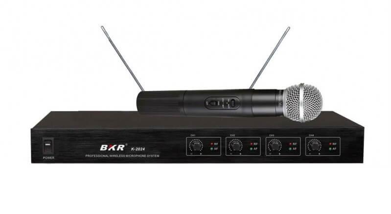 Радиомикрофоны BKR K-2024 (четыре ручных)